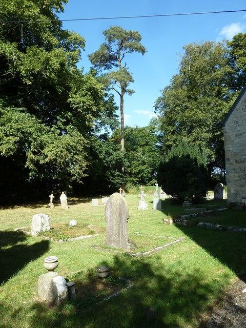 St Nicholas, Manston: shadows in the churchyard