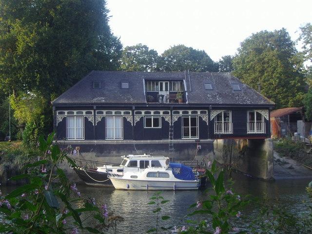 Boat house on Eel Pie Island, Twickenham