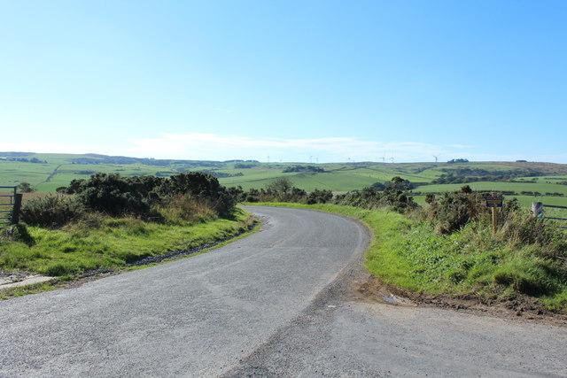 Road to Portpatrick near Piltanton