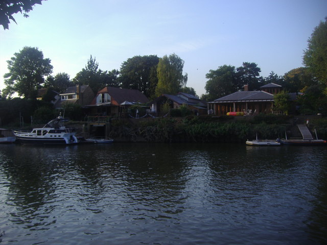 Houses on Eel Pie Island, Twickenham