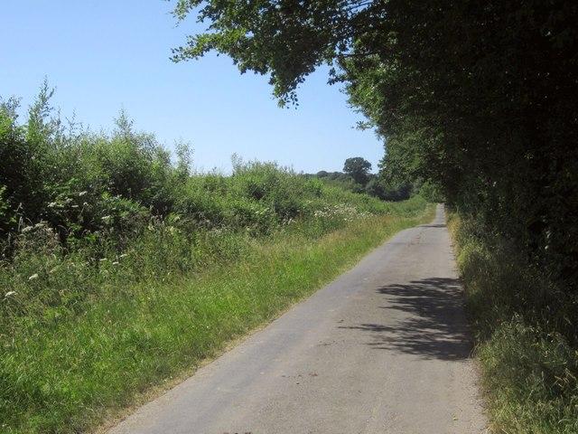 Lane past Sir Dennis Wood