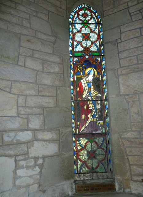 St Nicholas, Manston: stained glass window (A)