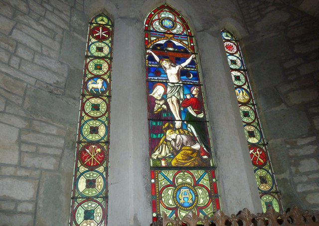 St Nicholas, Manston: stained glass window (B)