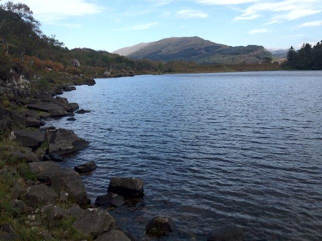 Shoreline of Loch Shiel at Camas Drollaman