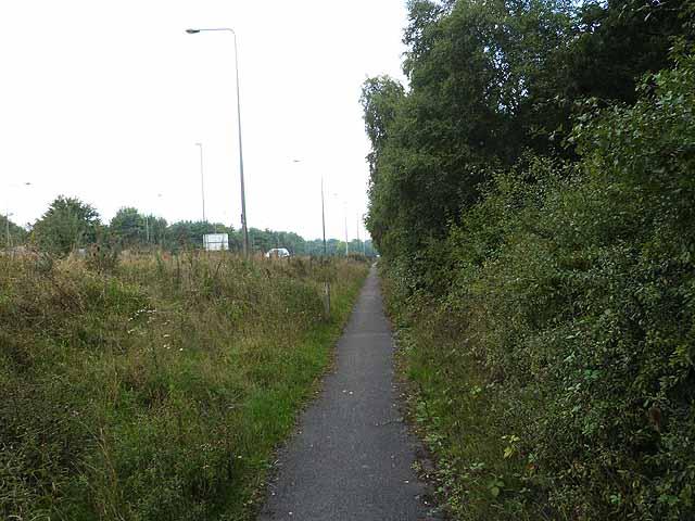 Footway alongside A23