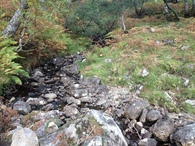 Small stream flowing into Loch Shiel