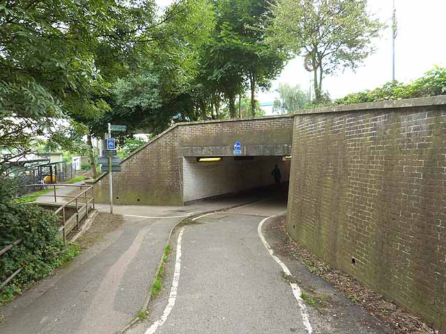 Cycle path subway under the A23