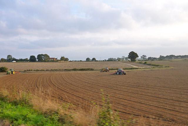Ploughing and harrowing near Aylsham