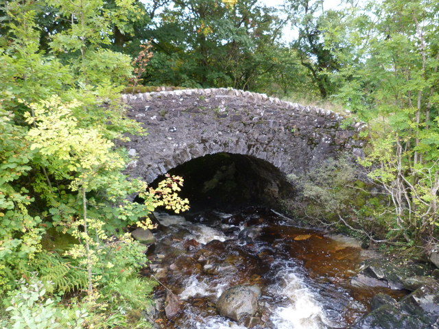The old bridge over Leacann Water