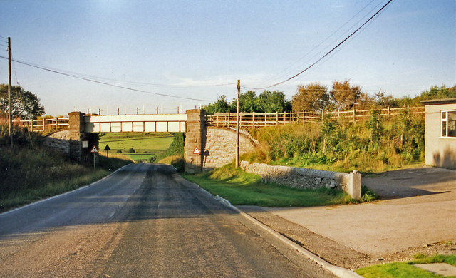 Site of Hindlow station, 1999