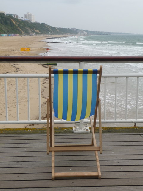Bournemouth: a deckchair on the pier