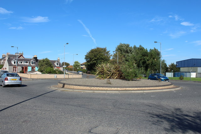 Roundabout on the Stoneykirk Road