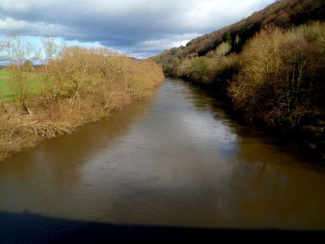 Wye upstream from Kerne Bridge