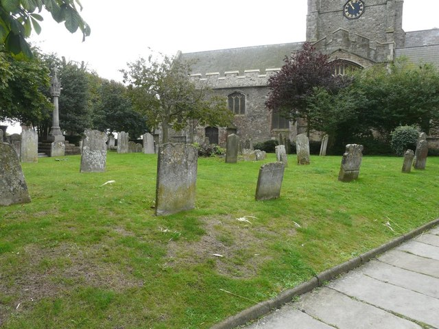 The churchyard of St Mary and St Eanswythe