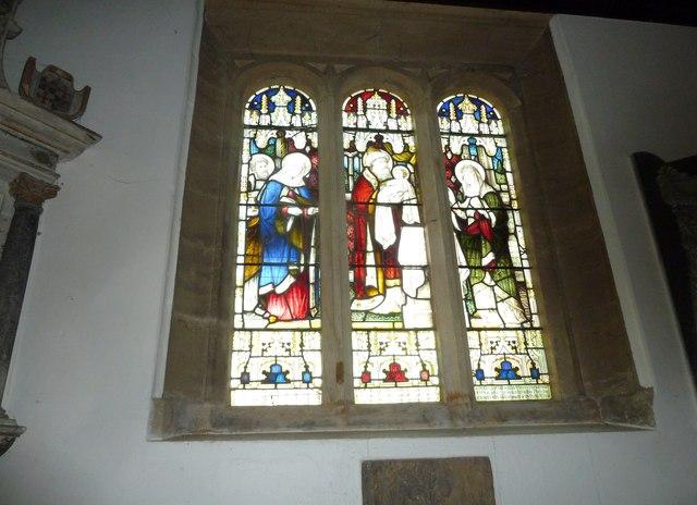 St Mary, Stalbridge: stained glass window (v)