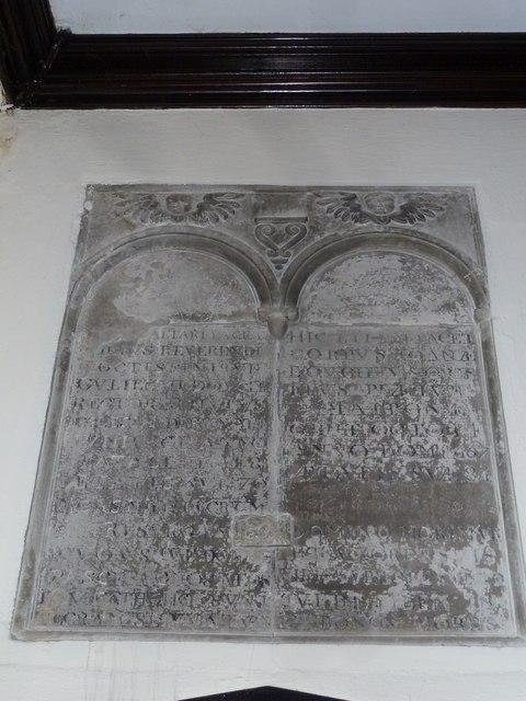 St Mary, Stalbridge: memorial (1)