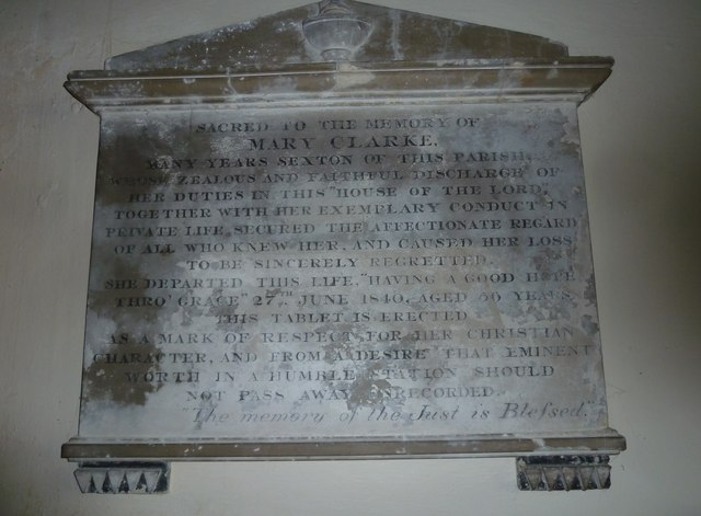 St Mary, Stalbridge: memorial (2)