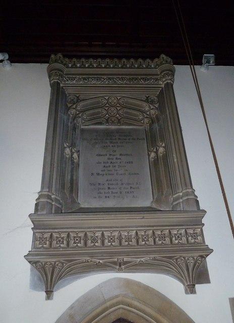 St Mary, Stalbridge: memorial (3)