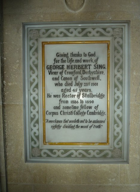St Mary, Stalbridge: memorial (4)