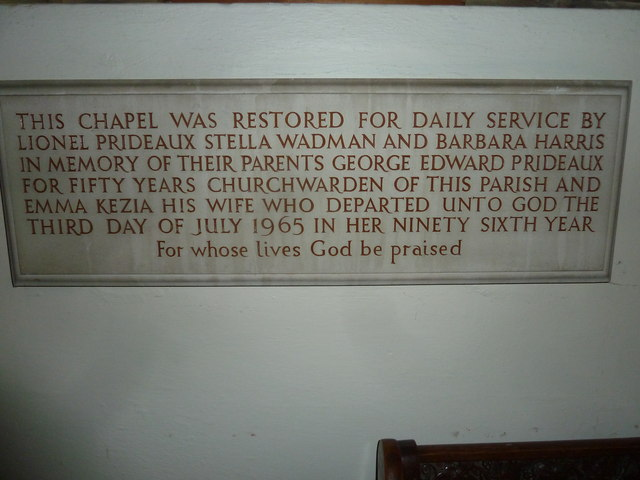 St Mary, Stalbridge: memorial (7)