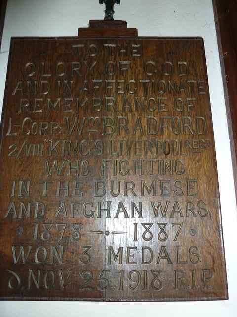 St Mary, Stalbridge: memorial (9)