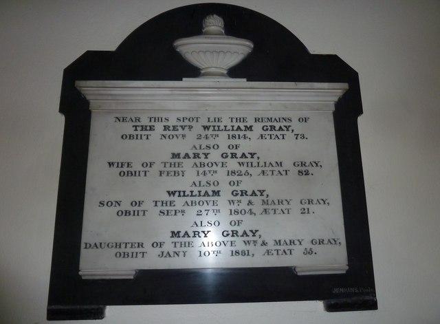 St Mary, Stalbridge: memorial (10)