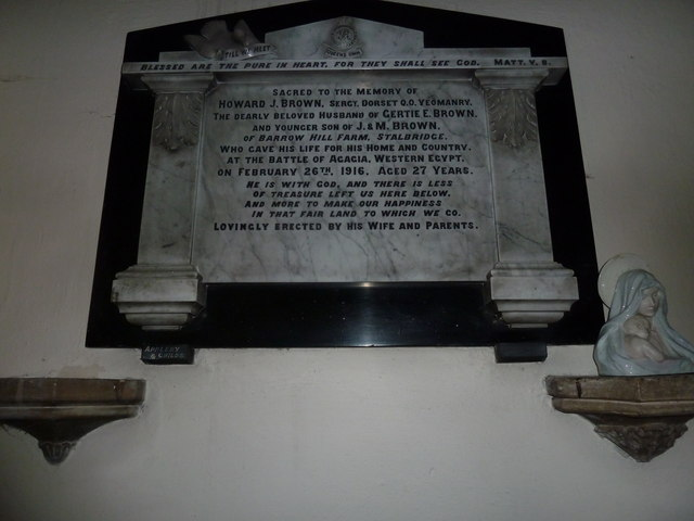St Mary, Stalbridge: memorial (15)