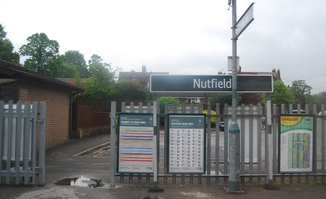 Nutfield Station sign
