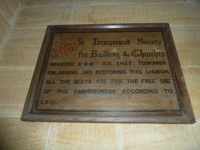 St Mary, Stalbridge: grant commemoration