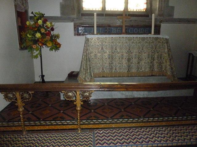 St Mary, Stalbridge: altar (A)