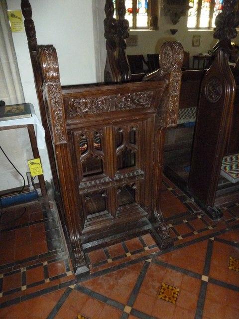 St Mary, Stalbridge: prayer desk