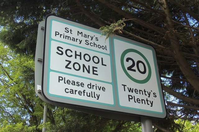 St Mary's Primary School Street Sign, Patrick Street, Greenock