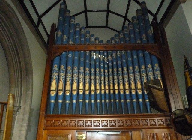 St Mary, Stalbridge: organ pipes