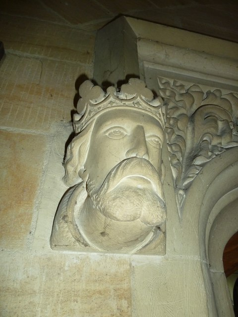 St Mary, Stalbridge: stone carved head (i)