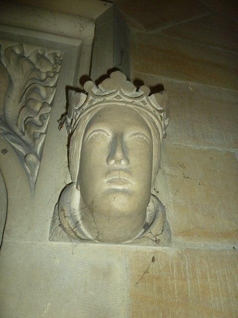 St Mary, Stalbridge: stone carved head (ii)