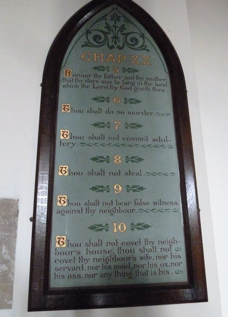 St Mary, Stalbridge: The Ten Commandments (v to x)