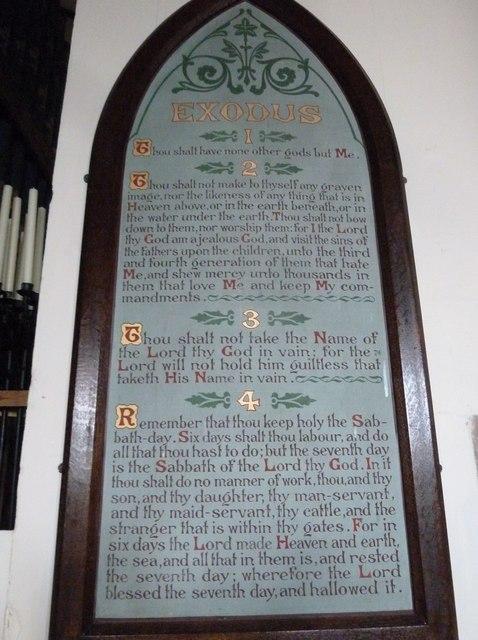 St Mary, Stalbridge: The Ten Commandments (i to iv)