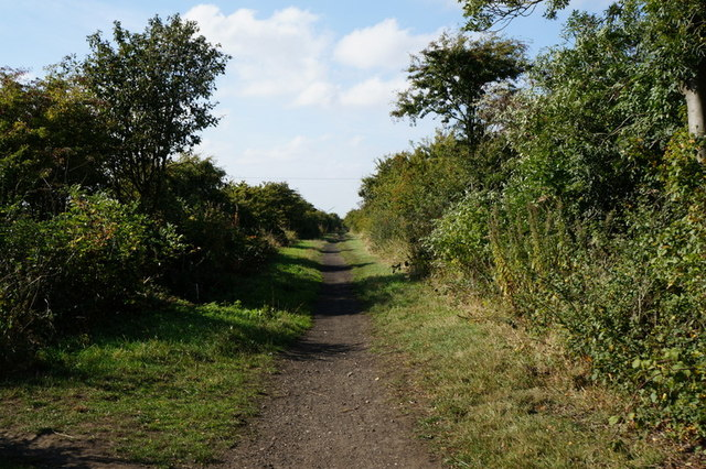 The former Withernsea to Hull rail line