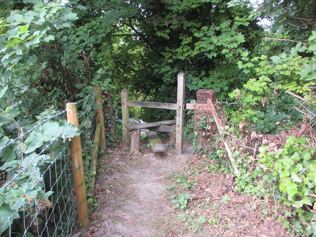 Stile near Wepham Green