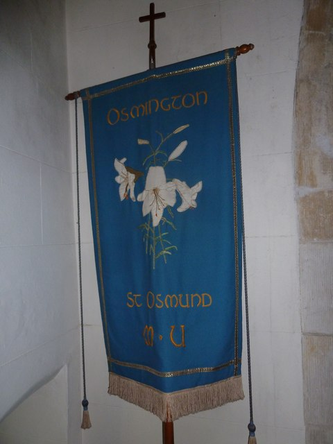 St Osmund, Osmington: Mothers' Union banner