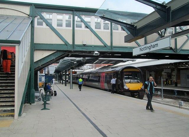 Nottingham Midland Station: now Platform 7