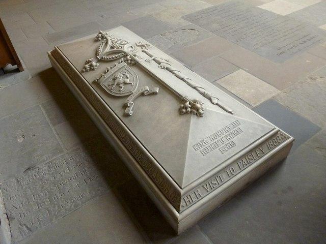 Paisley Abbey: tomb of King Robert III