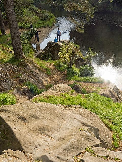 Rock beside the Tweed