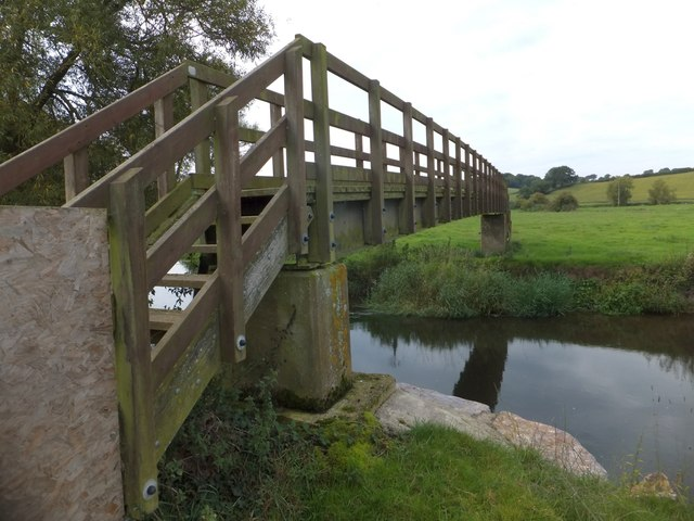 Nunford Bridge over River Axe