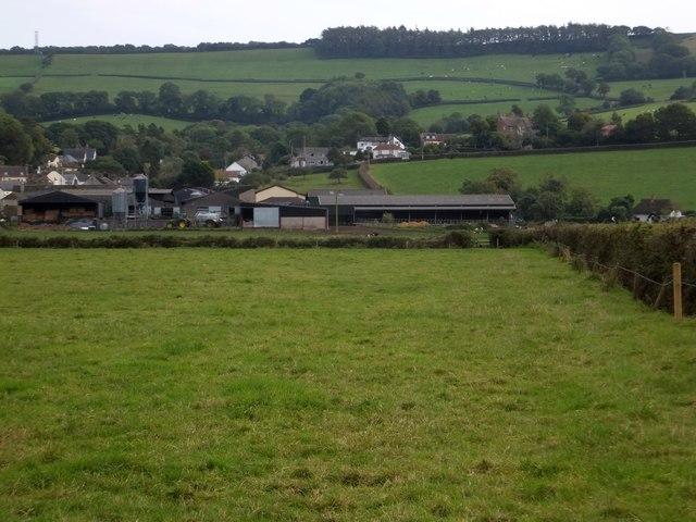 Musbury seen from Waterford Lane