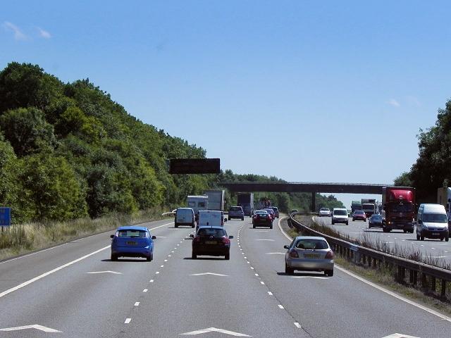 Southbound M6 near Pailton