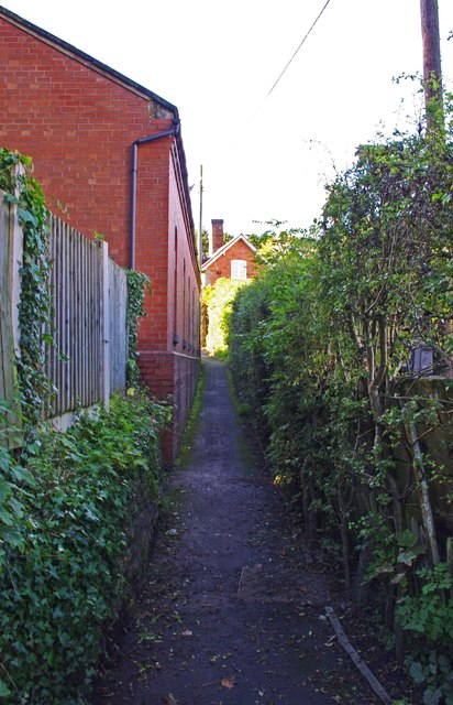 Footpath leading to Wells Place, Cleobury Mortimer, Shrops