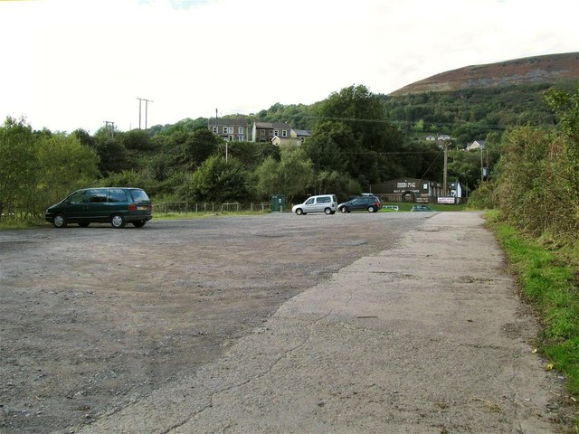 Carpark on A4067 for Cwmtawe Cycleway