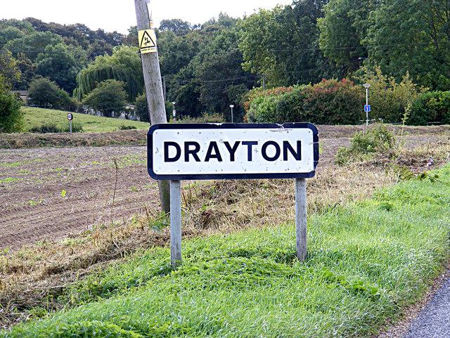 Drayton Village Name sign on Drayton Road
