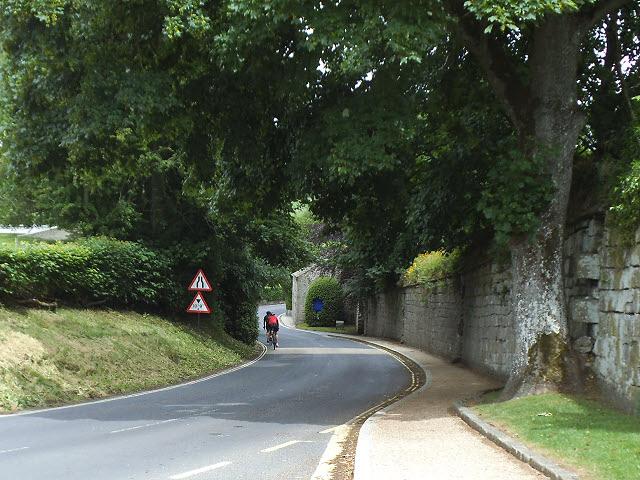 Cycling through Bolton Abbey village